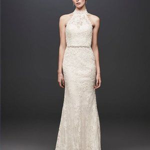 Melissa Sweet Ivory Lace Bridal Wedding Gown 6 NWT